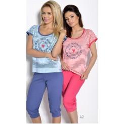 Розовая футболка и бриджи Simona L