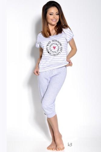 Серая футболка и бриджи Simona XL