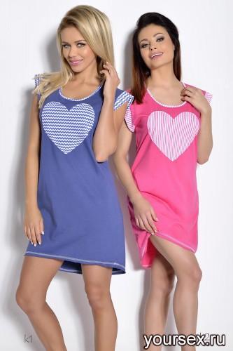 Синяя сорочка Roksana XL