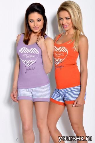 Сиреневая футболка и шорты Bogda XL