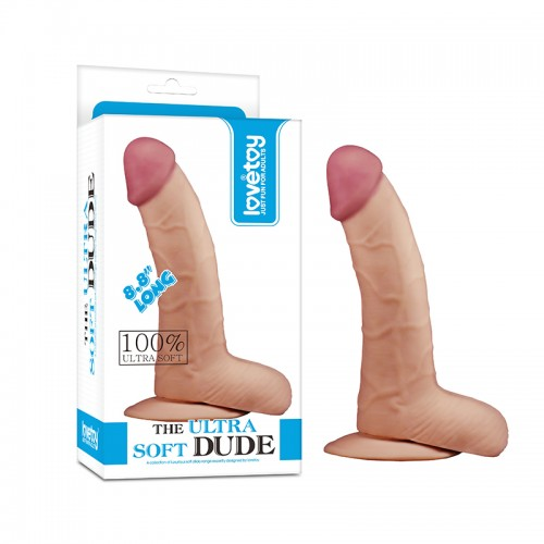 Фаллоимитатор Lovetoys Soft Dude, телесный 22,4 см