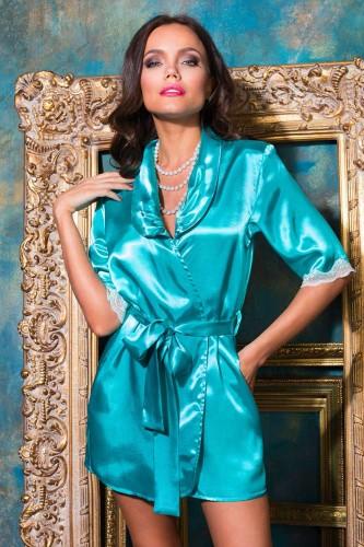 Халат Mia-Mia Crystal, бирюзовый XL