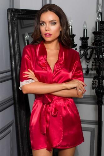 Халат Mia-Mia Crystal, бордовый XL