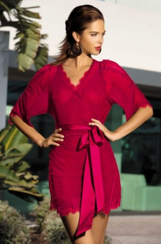Халатик Mia-Mia Lady in red, красный L/XL