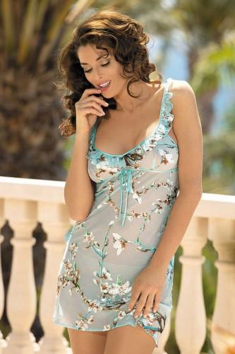 Короткая Сорочка Mia-Mia Akira, голубая XS