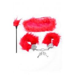 Набор Fetish Fantasy Series Feather Fantasy Kit, красный
