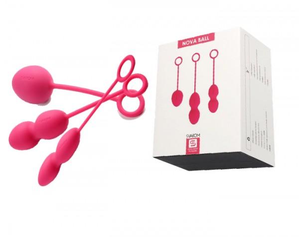 Nova Ball Розовые Вагинальные шарики со смещенным центром тяжести