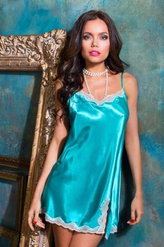 Сорочка с разрезом Mia-Mia Crystal, бирюзовая M