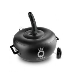 Мяч Надувной с Вибрацией Deluxe Vibrating Inflatable Hot Seat с съемными насадками реалистиками