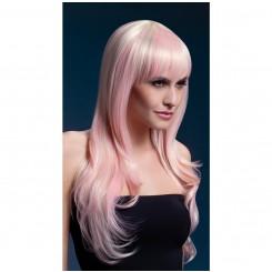 Парик Fever Сладкая Сиенна блонд с розовыми прядями