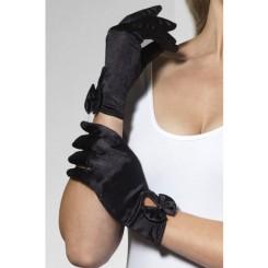 Перчатки Fever Леди атласные черные