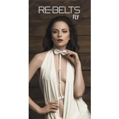 Портупея-чокер Fly Rebelts, белая, OS