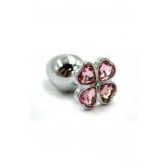 Анальная пробка из алюминия Kanikule Light, розовая
