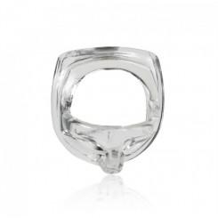 Эрекционное кольцо с разделителем мошонки Perfect Fit Armour Split прозрачное