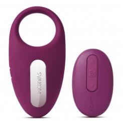 Виброкольцо Svakom Winni Violet с пультом ДУ, фиолетовый
