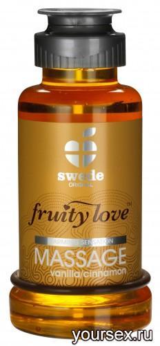 Лосьон для Массажа Swede Fruity Love Massage Vanilla/Cinnamon, 100 мл