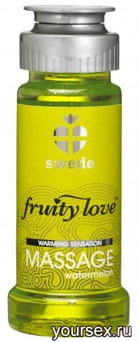 Лосьон для Массажа Swede Fruity Love Massage Watermelon, 50 мл