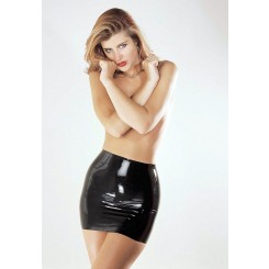 Юбка Sharon Sloane - Latex Mini Skirt Large, черный