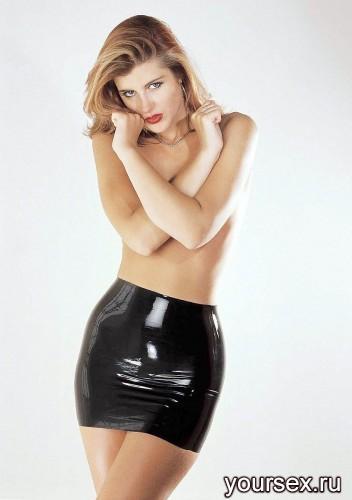 Юбка Sharon Sloane - Latex Mini Skirt Large, черный