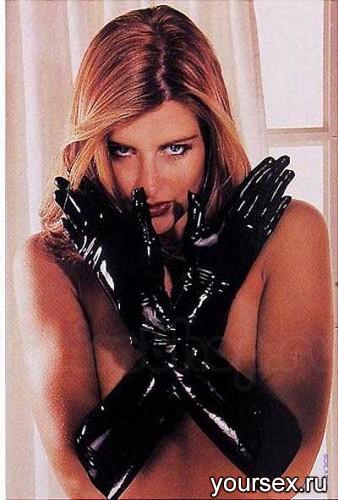 Латексные перчатки Sharon Sloane - Latex Gauntlets Small, черные