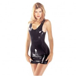 Платье Sharon Sloane - Latex Mini Dress Medium, цвет черный