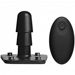 Крепление Vac-U-Lock с вибрацией на пульте Doc Johnson Vibrating Plug with Remote, черный