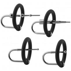 Уретральные плаги Doc Johnson Kink с кольцами на головку пениса в наборе, 5 шт